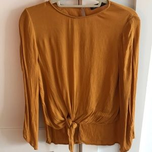 ZARA blouse - Mustard Yellow